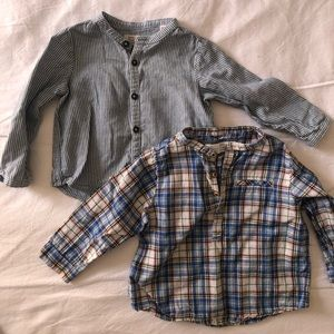 Zara button shirts 9-12 months